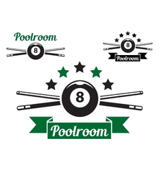 Billiard or snooker design vector image