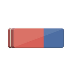 blue orange rubber eraser vector image