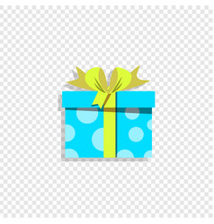 blue present box icon isolated on white background vector image