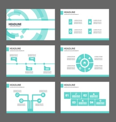 Blue Technology presentation templates Infographic vector image