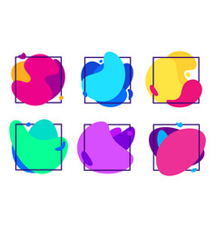 blur gradients shapes organic fluid frame vector image