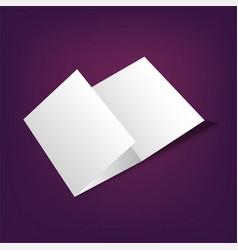 brochure mock up template vector image