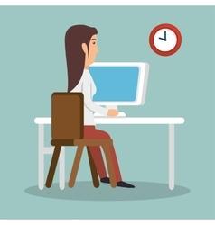 businesswoman working avatar icon vector image
