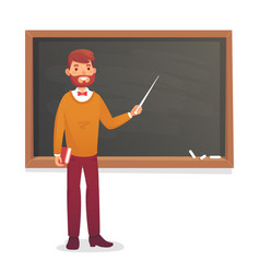 Chalkboard and professor college or university vector