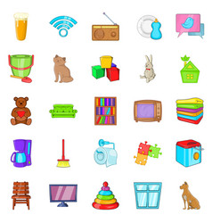 chamber icons set cartoon style vector image