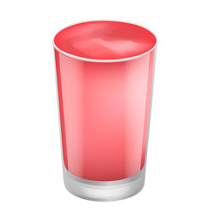 cherry smoothie icon realistic style vector image