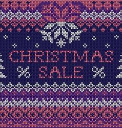 Christmas sale scandinavian seamless knitted vector