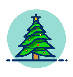 Christmas tree clipart icon vector