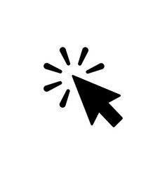 Click icon in flat style click symbol vector
