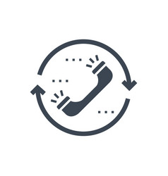 contact glyph icon vector image