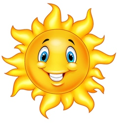 Cute cartoon sun vector image