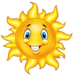 Cute cartoon sun vector