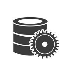 data storage center isolated icon vector image