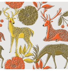 Deer nature wallpaper vector