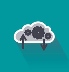 digital data computing on cloud server vector image