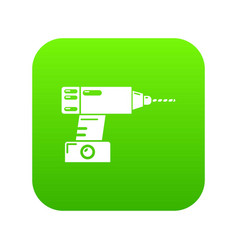 drill icon green vector image