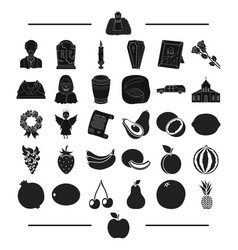 Exotic funeral resting and other web icon in vector