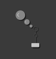 Flat icon design bubble stick in sticker style vector
