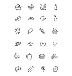 Food Hand Drawn Outline Icons 6 vector
