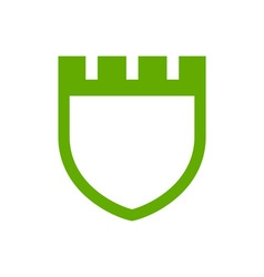 fortress-crest vector image
