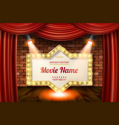 Golden frame in cinematic style vector
