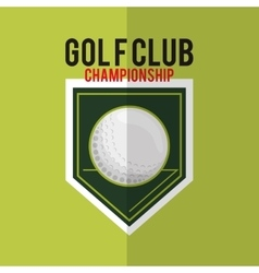 Golfing related icons image vector