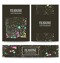 grunge color texture collection brochure vector image
