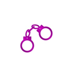 handcuffs icon Flat design style vector image