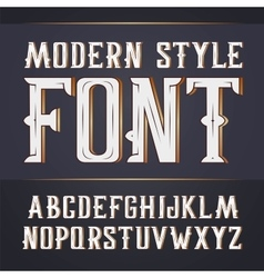 Handy crafted modern label font vector