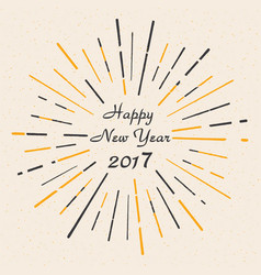 happy new year 2017 vintage style beautiful gree vector image