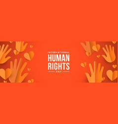 human rights day web banner for social equality vector image
