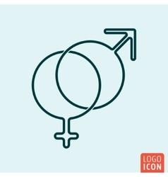 Icon line design vector image