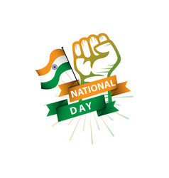 India national day flag template design vector