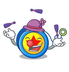 Juggling yoyo mascot cartoon style vector