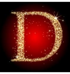 Letter star d vector