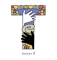 Letter t with mask vector