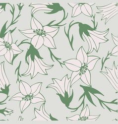 lovely flower seamless pattern vector image