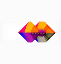 modern geometric abstract background vector image