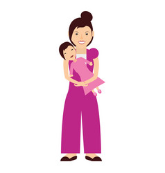 Mother baby sitting vector