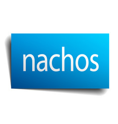 Nachos blue paper sign on white background vector