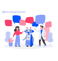 Natural language processing concept modern flat vector