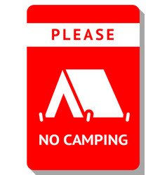no camping modern sticker ready to print vector image