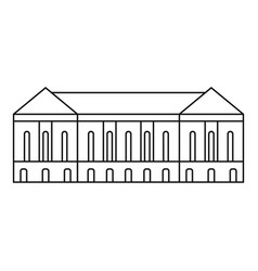Old building icon outline style vector