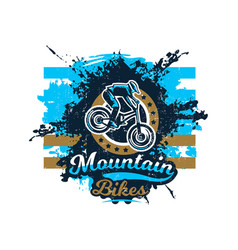 On the theme of mountain bike vector