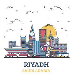 Outline riyadh saudi arabia city skyline vector