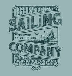 pacific ocean sailing race regatta vector image