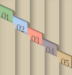 Paper number line background vector image