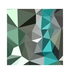 Persian green abstract low polygon background vector