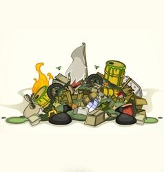 Pile various garbage vector