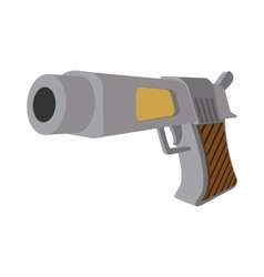 Pistol cartoon icon vector